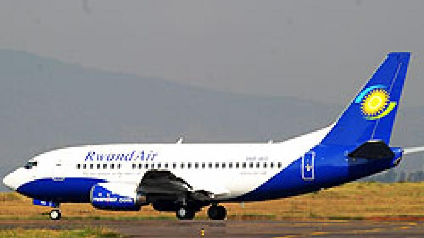 RwandAir strongly contributed to the growth in aviation activity in the country following the purchase of more aircrafts and opening new routes(File Photo)