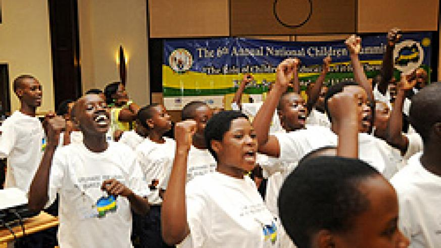 Children during last year's Summit. The National Children Council was mooted at this forum (File Photo)