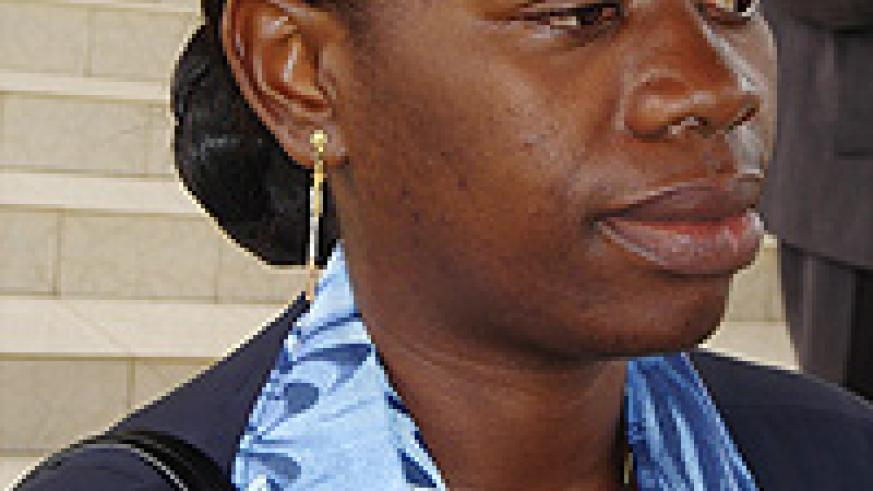 Commerce Minister Monique Nsanzabaganwa  was present in Parliament yesterday
