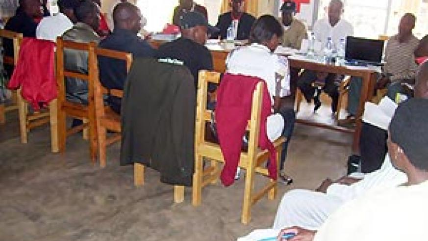 Red Cross District committees during the meeting yesterday (Photo; A. Gahene)