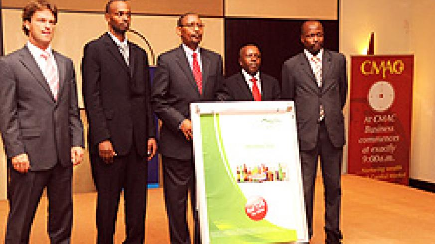 Officials at the launch of  Bralirwa IPO last year.  (File Photo)