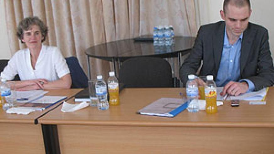 Some members of the Dutch delegation during the meeting with justice officials, on Friday (Courtsey Photo)