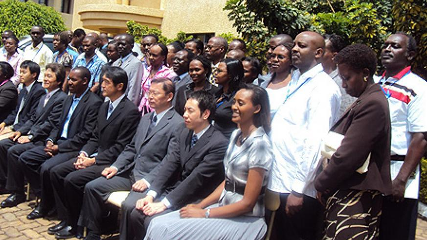 Participants  from across East Africa in a group photo during the training (photo by Bucyensenge)