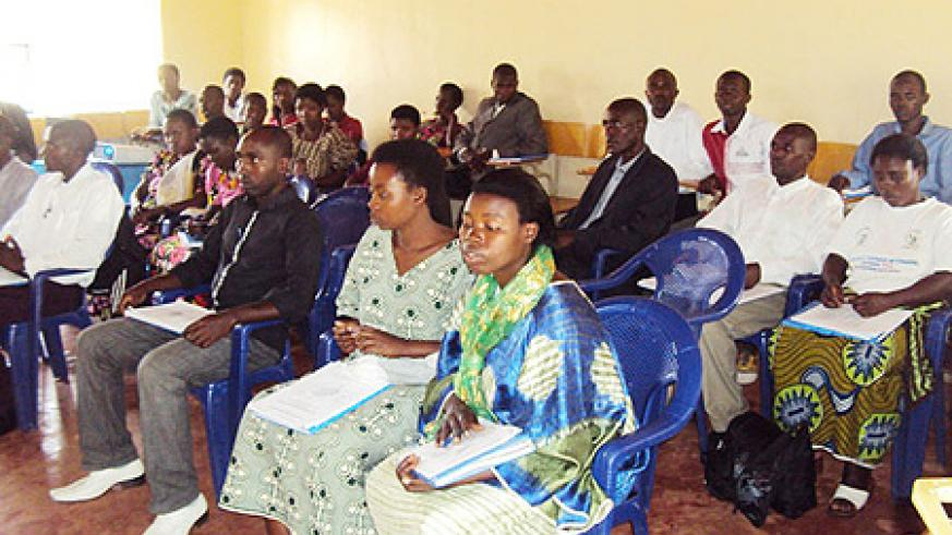 Members of the local community during the training at EER Nyagatare.Photo.D Ngabonziza