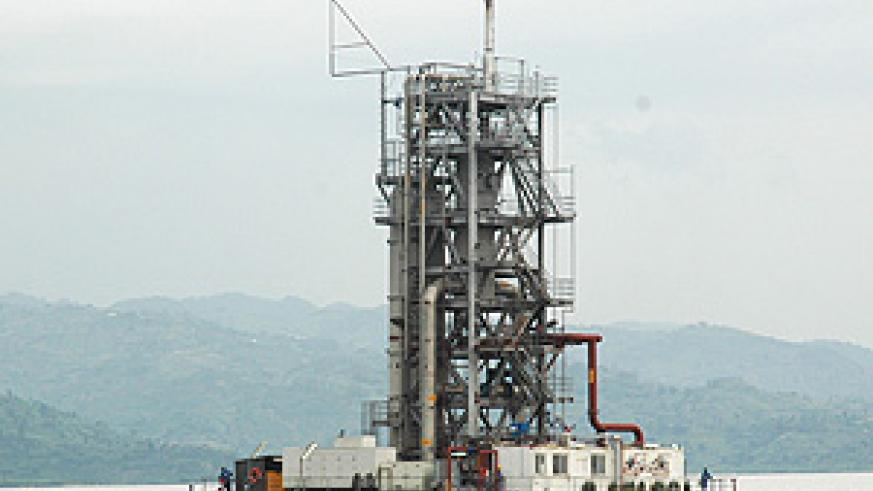 The rig at the Methane Gas plant on Lake Kivu. Government will showcase its potential at the forthcoming petroleum conference (File Photo)