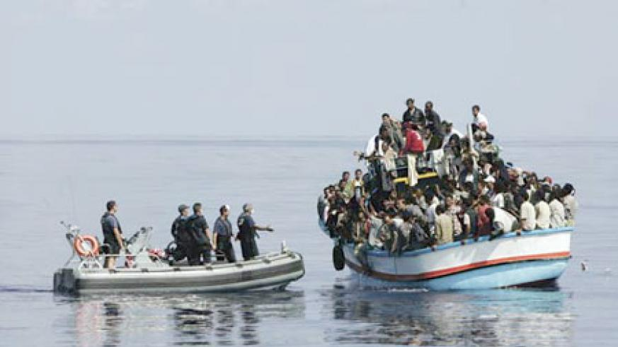 Illegal immigrants trapped by border officials.