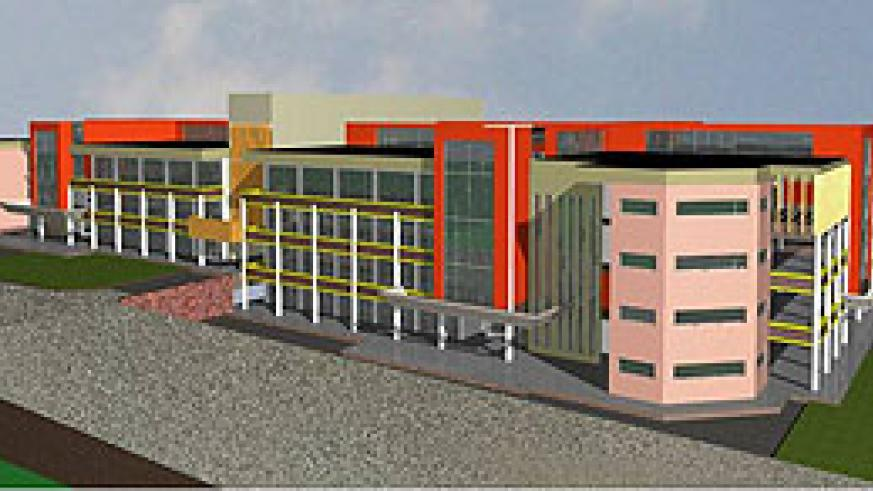 An artistic impression of the new market to be constructed in Rubavu District
