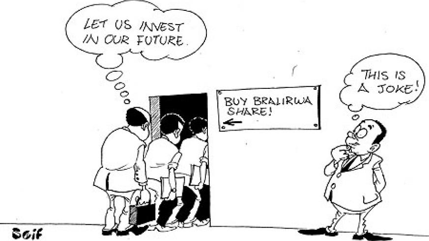 People who invested in Bralirwa shares have seen their wealth gain by 72% in less than a month.
