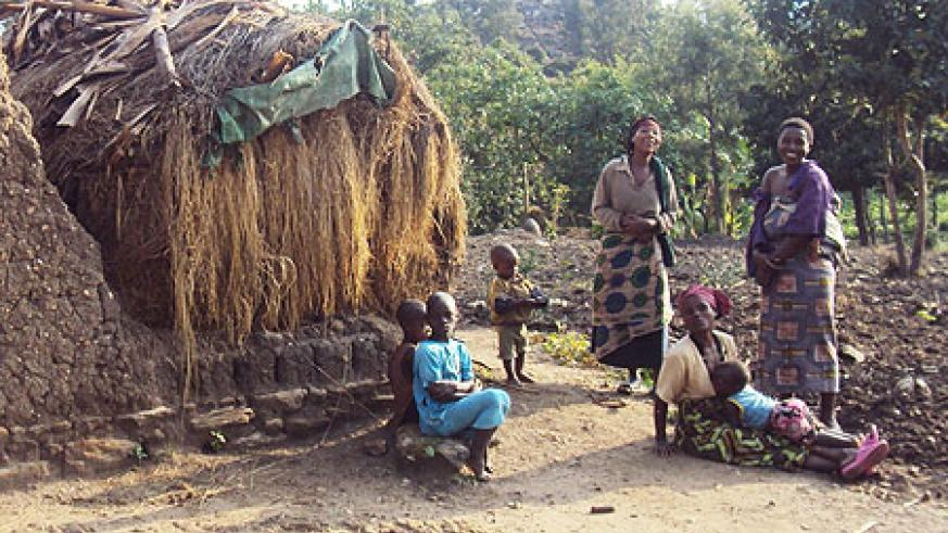 The elimination of grass thatched houses such as this one has been set at the end of next month (photo S Nkurunziza)