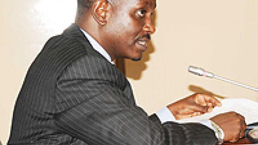 Health Minister Dr Richard Sezibera in the senate on Monday (File Photo)