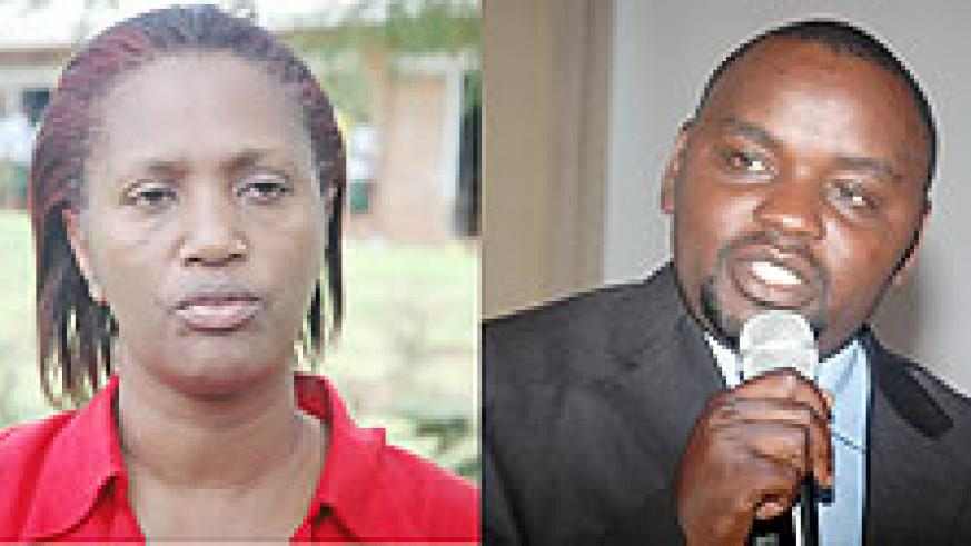 L-R : TIME OVER; Jean d'Arc Gakuba's mandatory two terms are over ; TO RUN; Alphonse Nizeyimana wants another stint at KCC