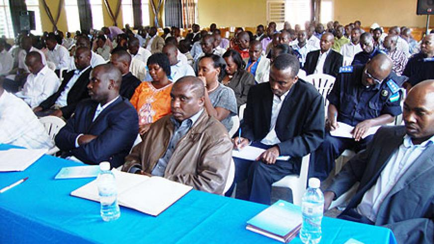 Local leaders were tasked to find ways of addressing looming food shortages. Photo S. Rwembeho.