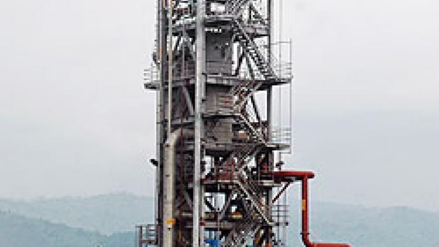 A section of the methane gas extraction plant on a Lake Kivu. The project has received a boost from AfDB (File Photo)