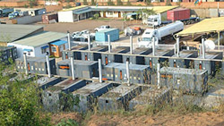 The power generators operated by RECO at Gikondo industrial area. The Utility wants to increase connections (File Photo)