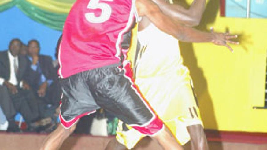 Fiston Muhire has been a key player for Rwanda in the on-going Zone 5 basketball Championship. (File photo)
