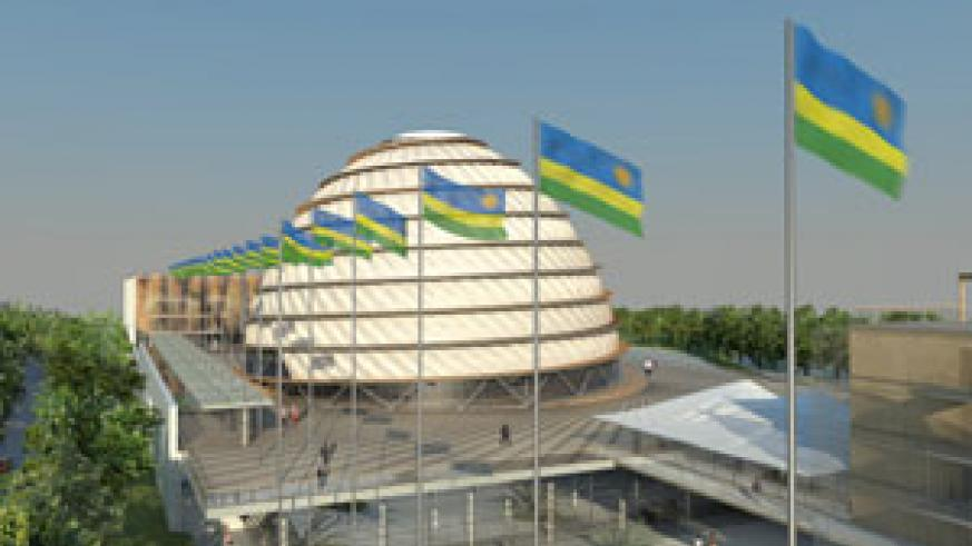 An artistic impression of Kigali Convention Centre