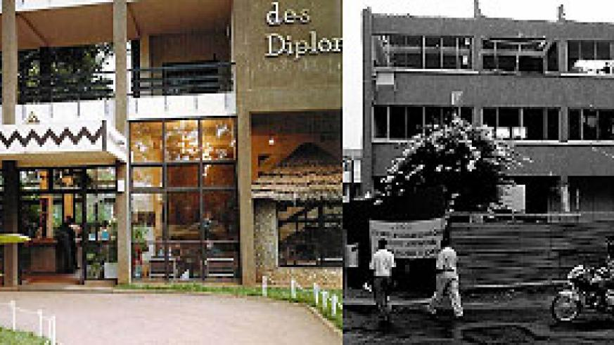 L-R : Hotel Diplomate ; old Post Offfice
