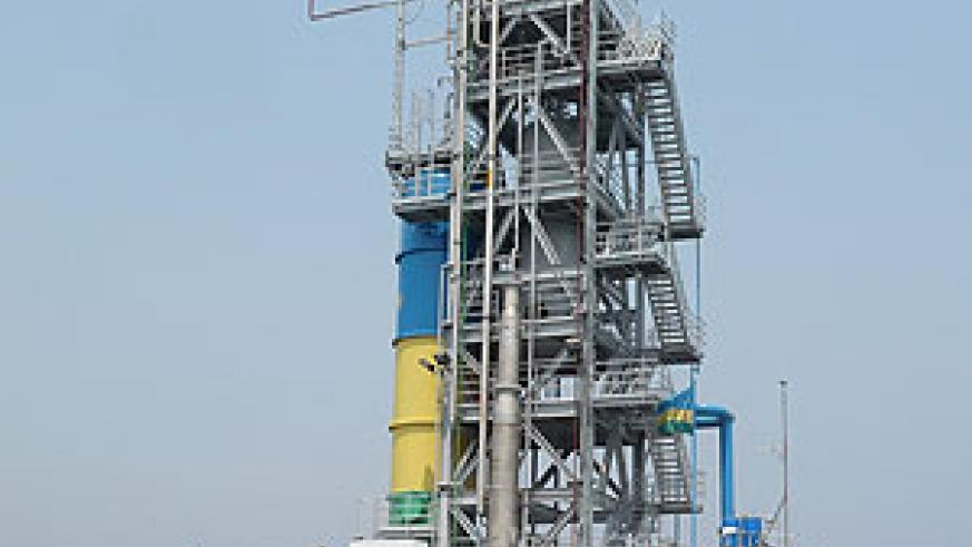 A methane gas extraction plant on Lake Kivu (Courtsey Photo)