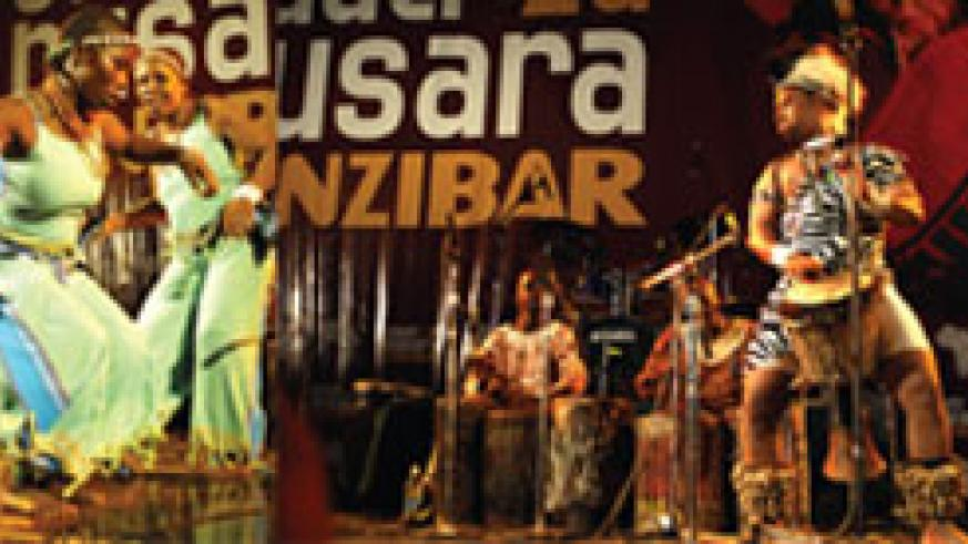 L-R : The Black Roots queen dancers take on the stage; lad in a traditional outfit, Mohamed ( c) demonstrates his exceptional drumming skills.