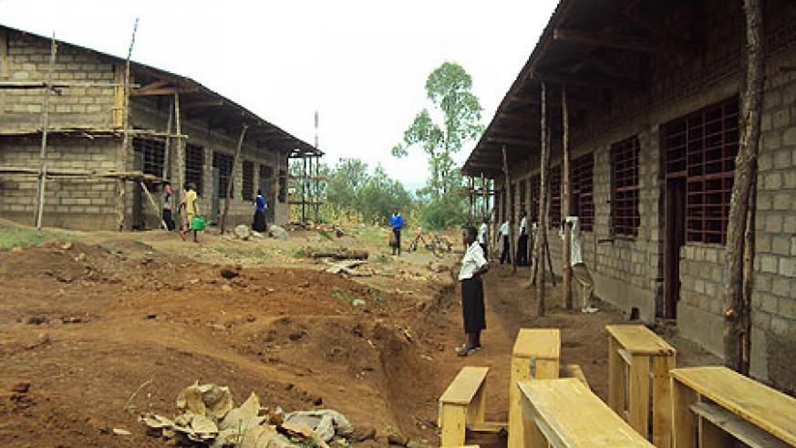 Part of the last phase of construction works for extra classrooms  in Nyagatare district.(Photo.D Ngabonziza)