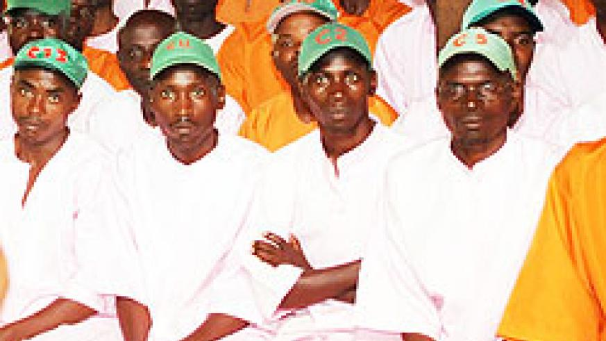 A group of inmates attaending a sensitization session (File Photo)