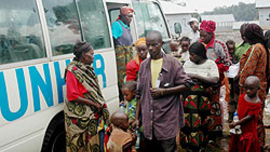 Some of the returnees from DRC before reintergration. Thousands have returned since 2009 (File Photo)
