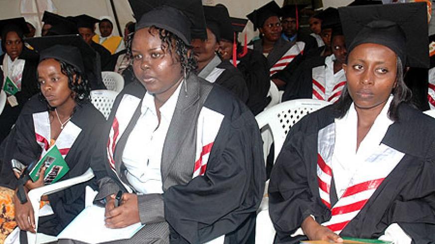Graduates at a past graduation ceremony at KHI. More will graduate this week  (File photo)