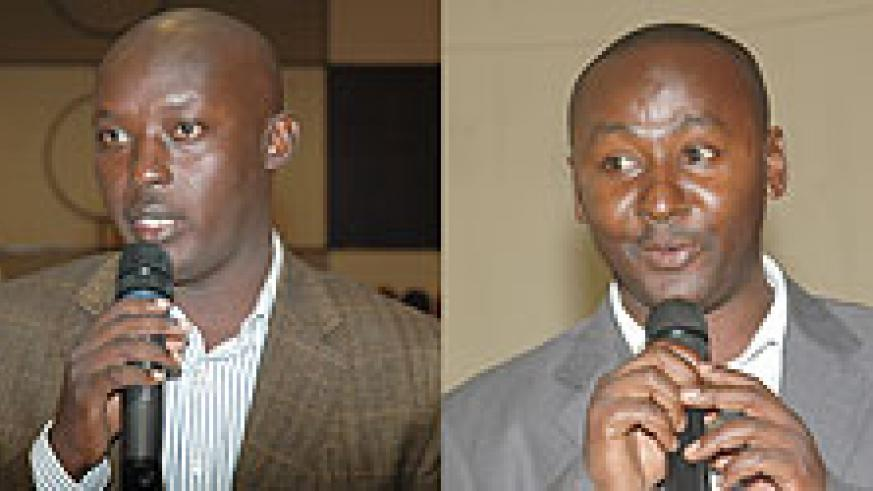 L-R : IN RACE Paul Jules Ndamage ; CONTESTING; Willy Ndizeye