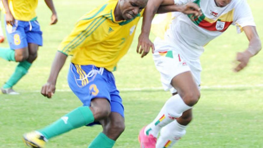 Amavubi's Albert Ngabo is struggling to be fit in time for the CAN 2012 qualifier against Burundi. (File photo)
