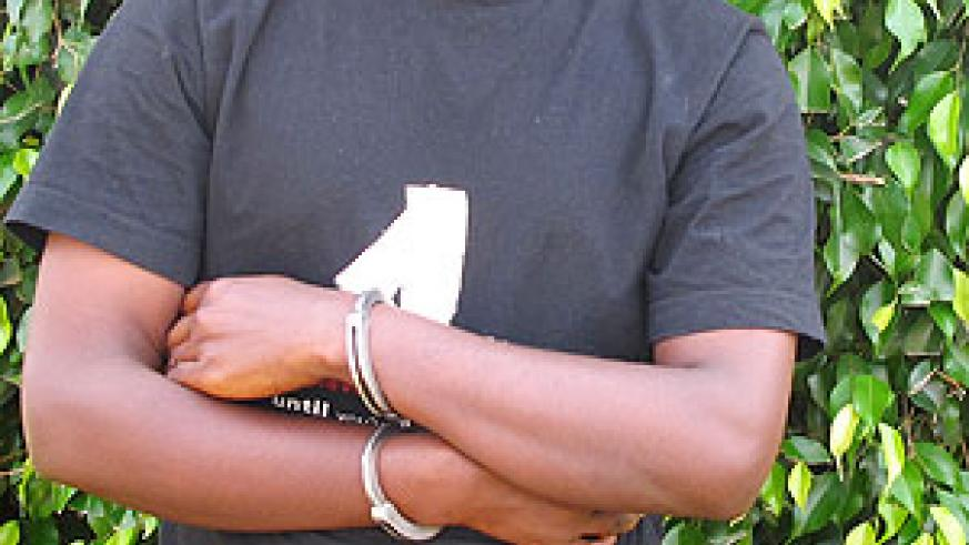 Aimable Mutebutsi at Kaciru Police station (Photo T.Kisambira)