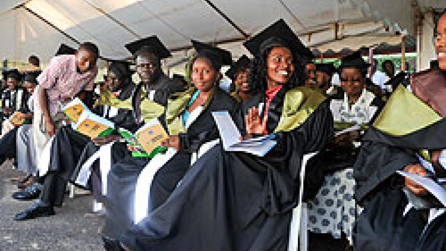 University graduands. Experts say the economy must be able to absorb the increasing number of graduates (File photo)