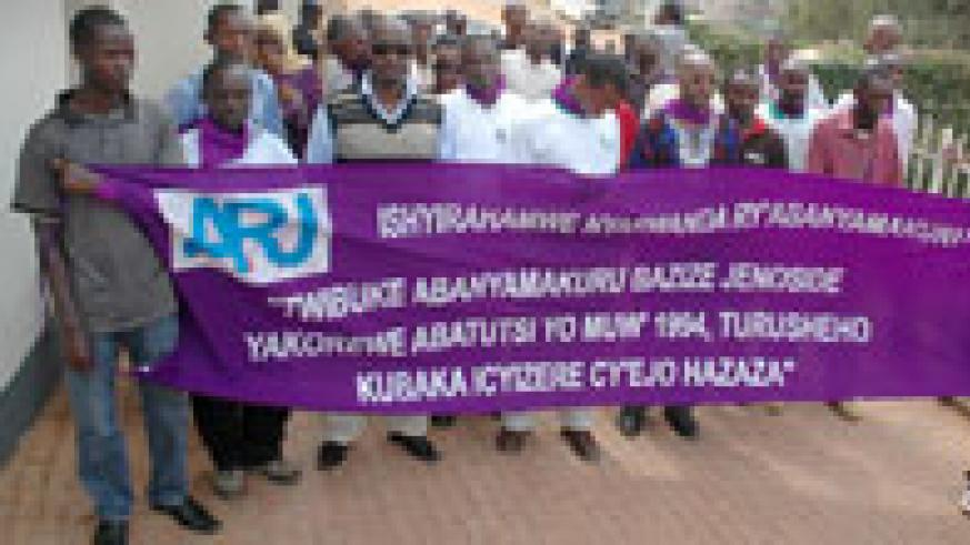 Journalists commemorating colleagues killed during the Genocide. MHC is working on a new list of victims (File Photo)