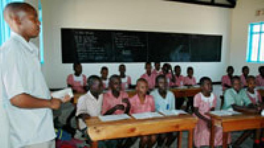 Primary school children during a class session. Teacher motivation has become a priority for the Education sector. (File Photo)