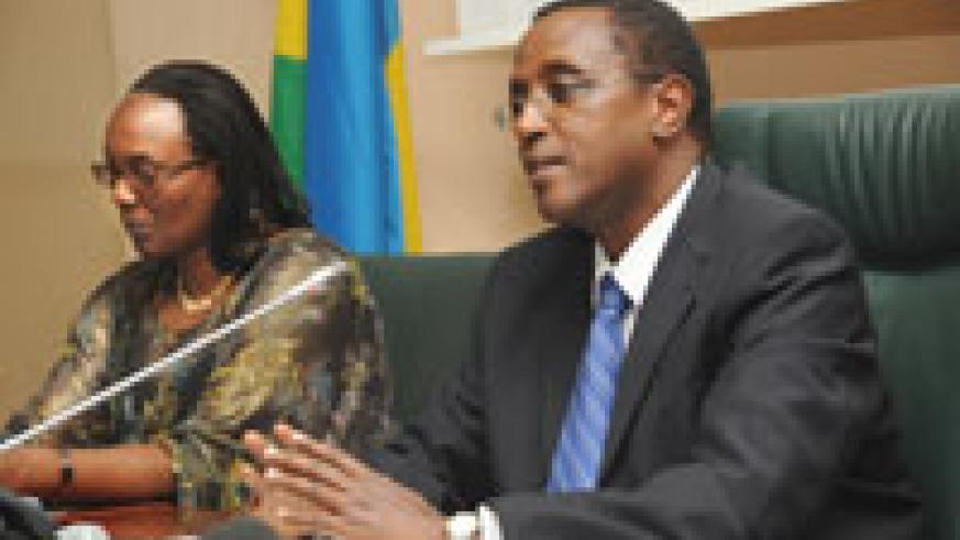 Senate president Dr Vincent Biruta and Speaker Rose Mukantabana will host their regional counterparts (File Photo)