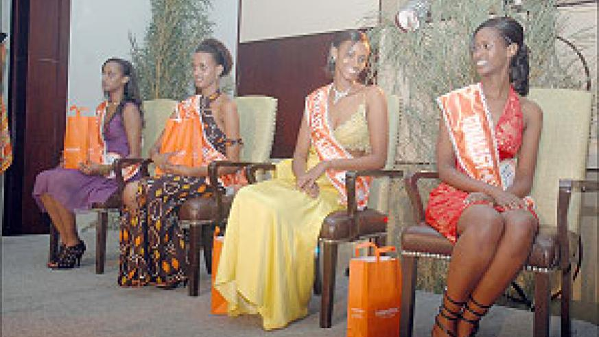 Some of the beauties who contested for Miss Rwanda 2009. (file photo)