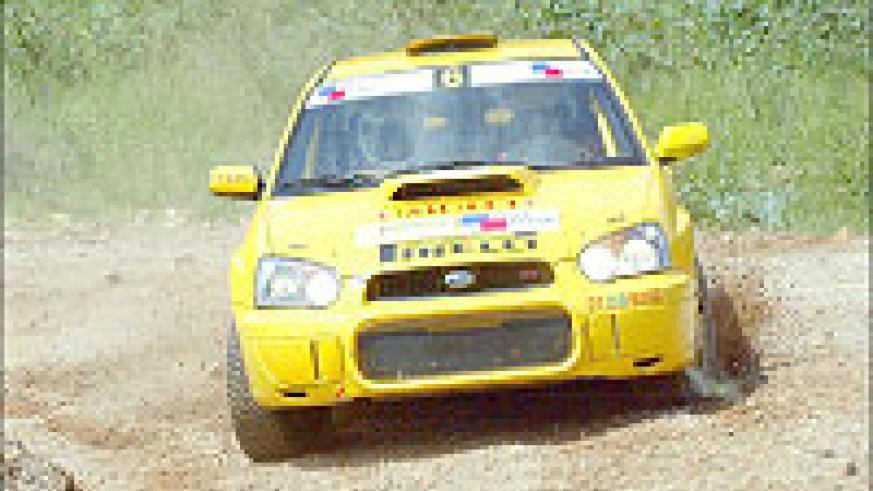Davite Giancarlo powers his Subaru Impreza during the 2007 Irushanwa rally. The ace rally driver is in Zimbabwe. (File Photo)