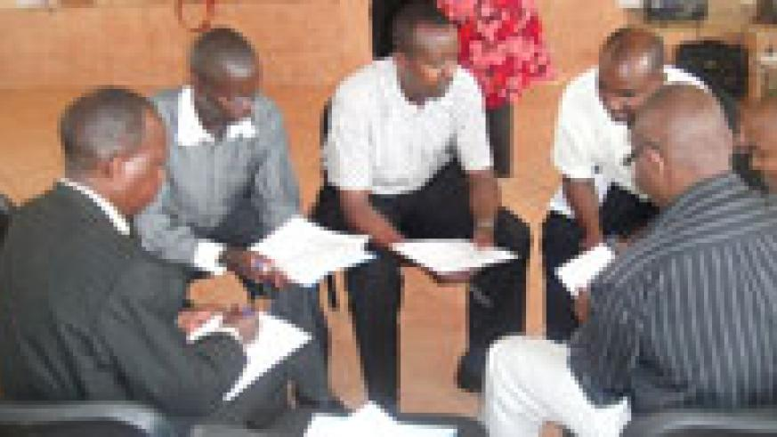 Teachers from TTCs in a group discussion. They will soon be examined by KIE instead of RNEC (file photo)