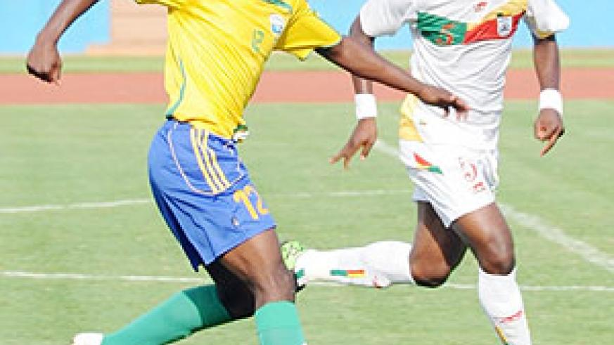 Kipson in action during last year's Cecafa Senior Challenge Cup. The 17-year-old has also been drafted in the squad to face Burundi. (File photo)