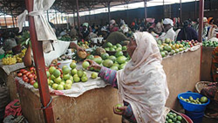 Kimironko market. The Silos project will increase food security in the country (Photo file)
