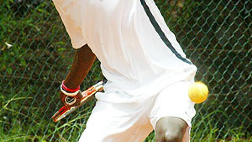 EYES ON THE BALL: Top seed Dieudonne Habiyambere will lead Rwanda's campaign in the week-long Uganda Open, which starts today in Kampala. (File photo)