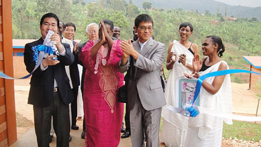 KOICA officials commissioning the new school complex in Musambira Sector, Kamonyi District (Courtesy photo)