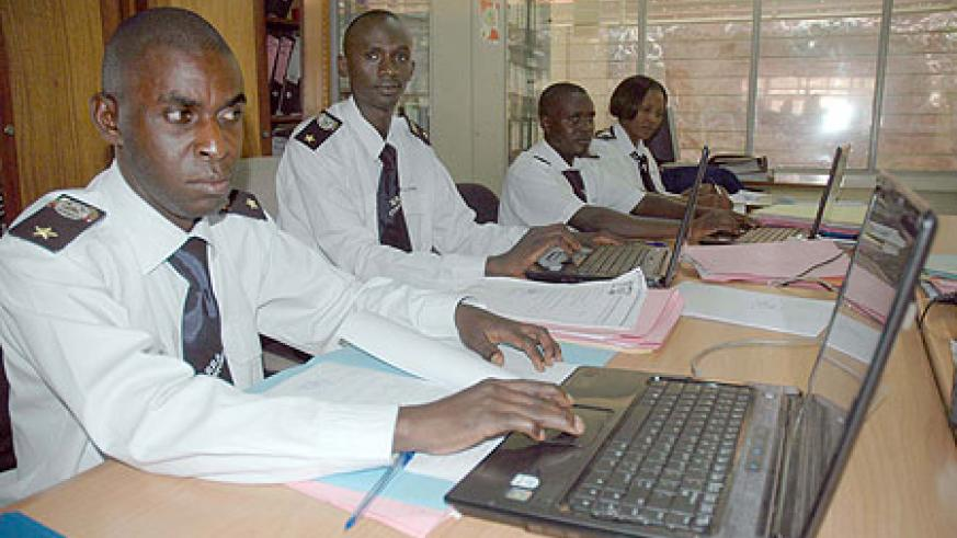 A group of Rwandan customs officials at work. (File photo)