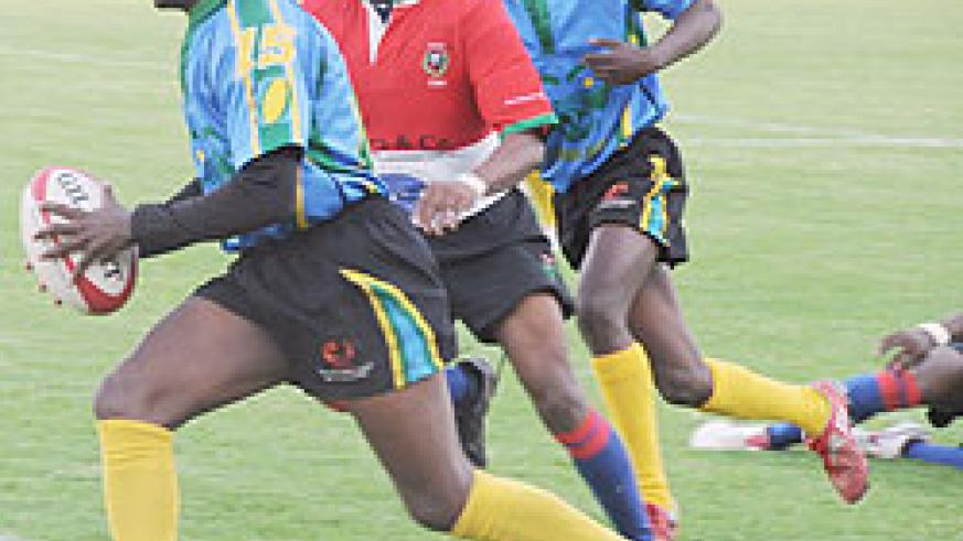 Silverbacks Captain Vincent Kamali (with ball) is confident team will win trophy in Hong Kong.(File Photo)