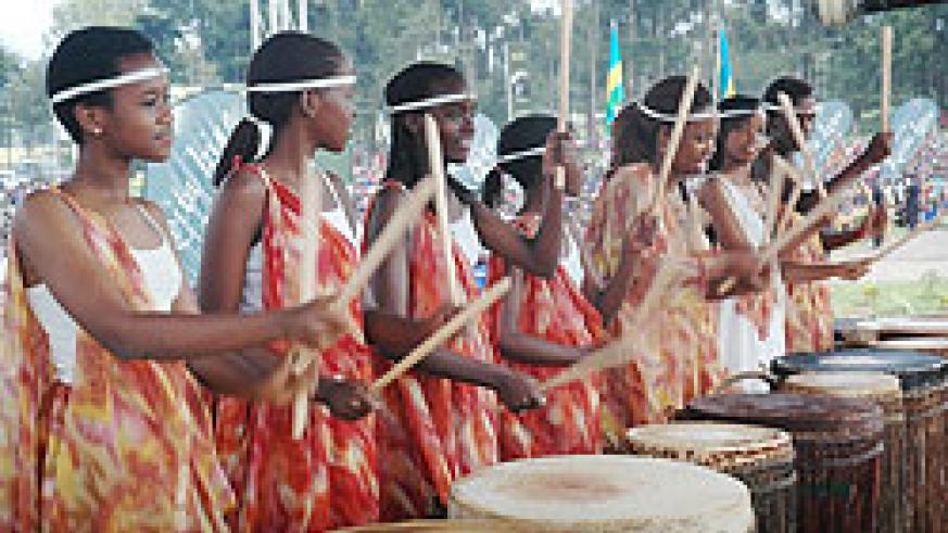 PROMISING FUTURE; Rwandan Girls happily perform at a function. Rwanda has emerged second best country for  girl child