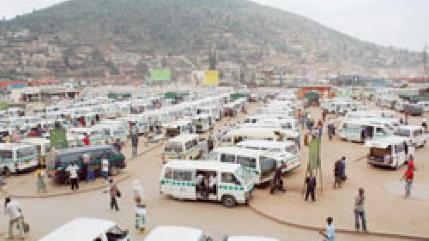 Nyabugogo taxi park. High transport fares contributed to the rise in inflation (File photo)