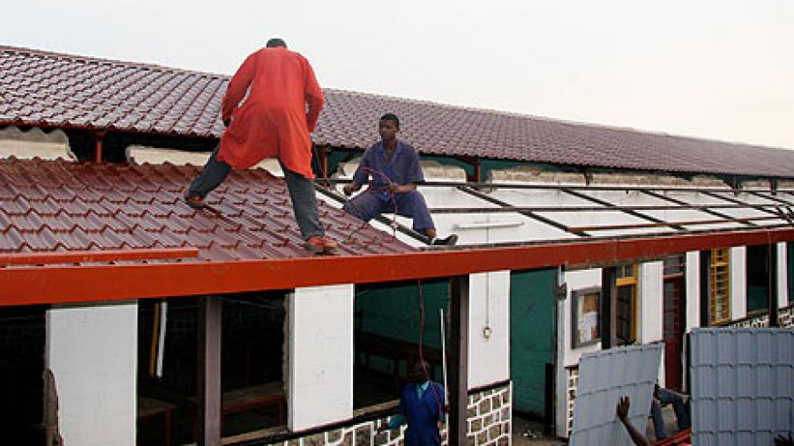 Gisenyi vocational training centre that Thomas and Piron Supported.(Photo A. Ngarambe