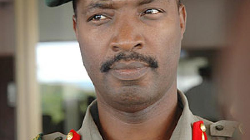 Lt Gen Charles Kayonga will receive his counterpart from Botswana