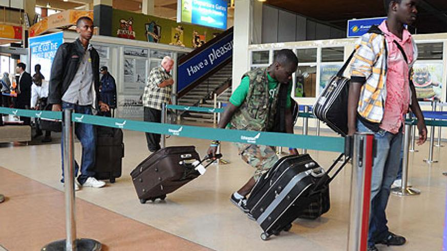 Rwandan students heading back to Egypt (File Photo)