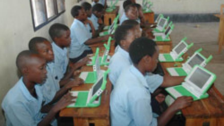 Children using OLPC gadgets in class. Government has embarked on training teachers (File Photo)