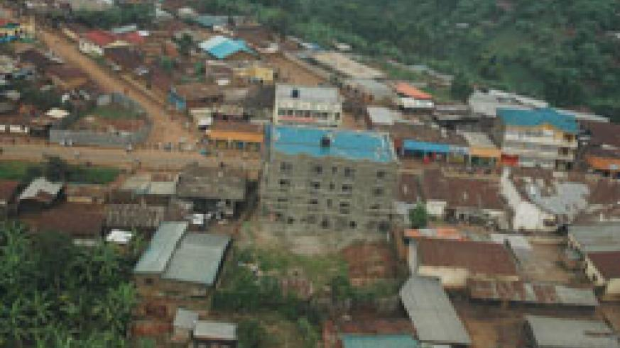 An aerial view of Kamembe town in Rusizi. This was one of the areas affected by the 2008 earthquake (File Photo).